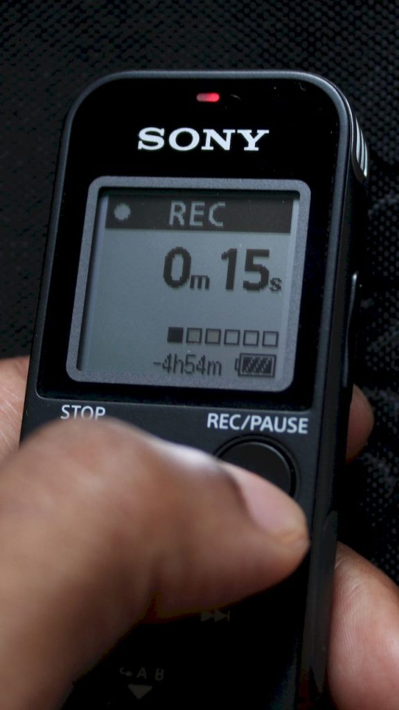 Best Voice Recorder for Interviews : Sony ICD-PX470