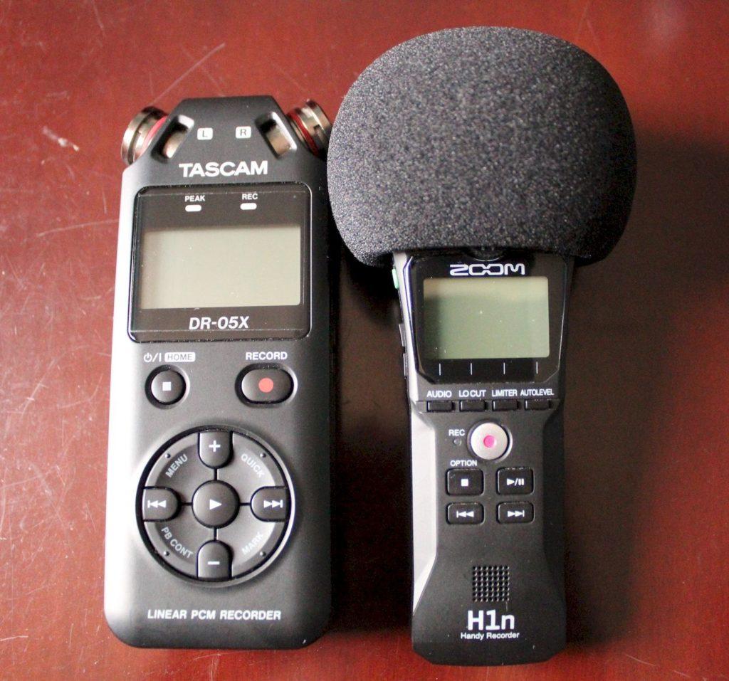 Zoom H1n vs Tascam DR-05x