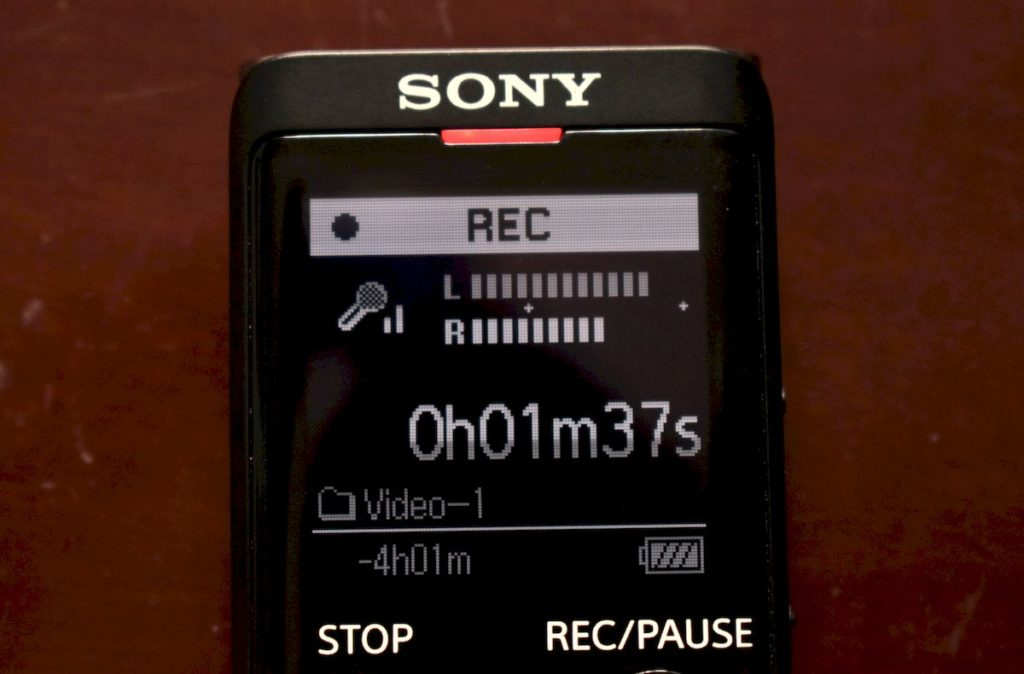 Sony ICD-ux570 Display