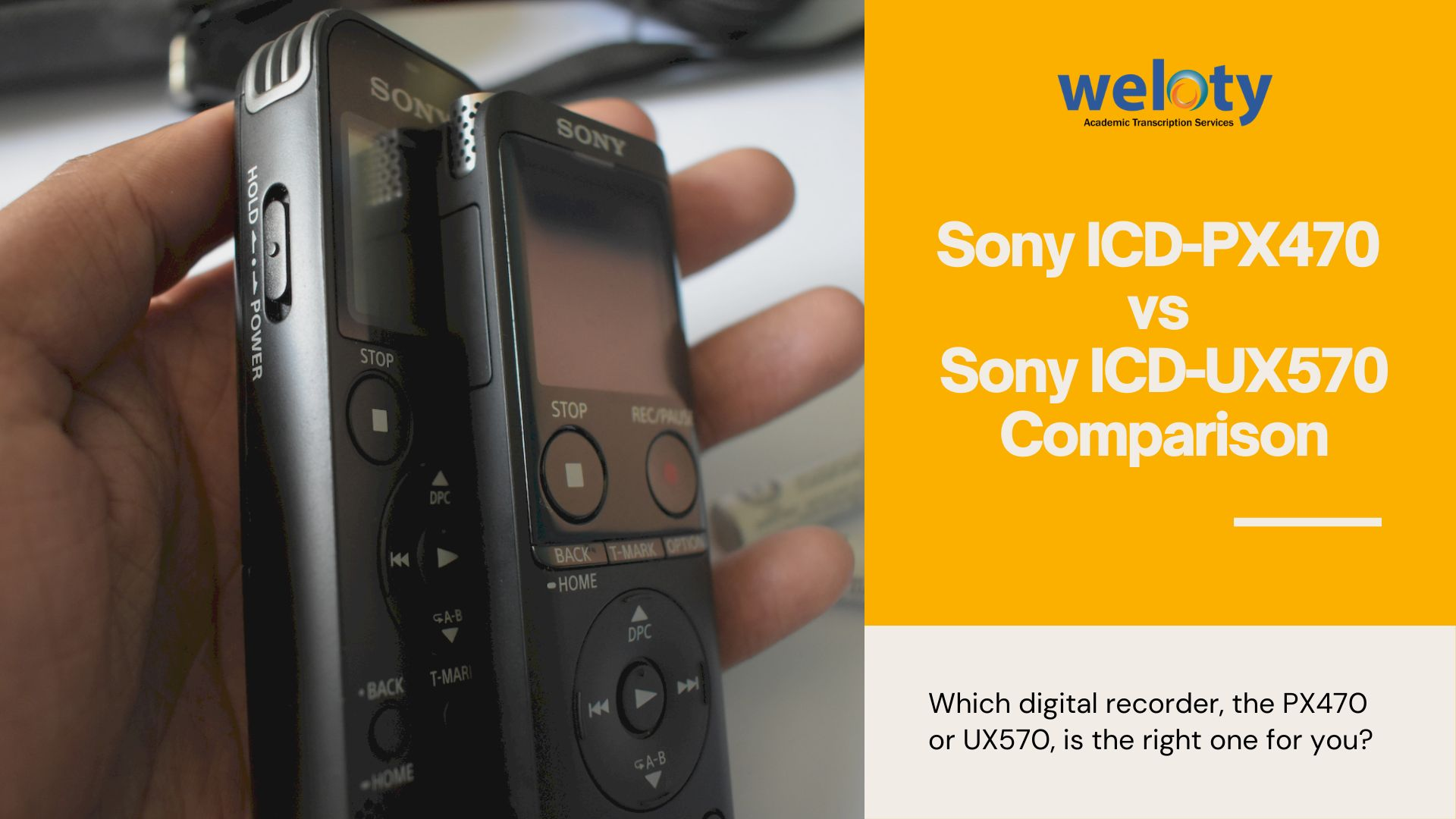 Sony ICD-PX470 vs Sony ICD-UX570 Comparison